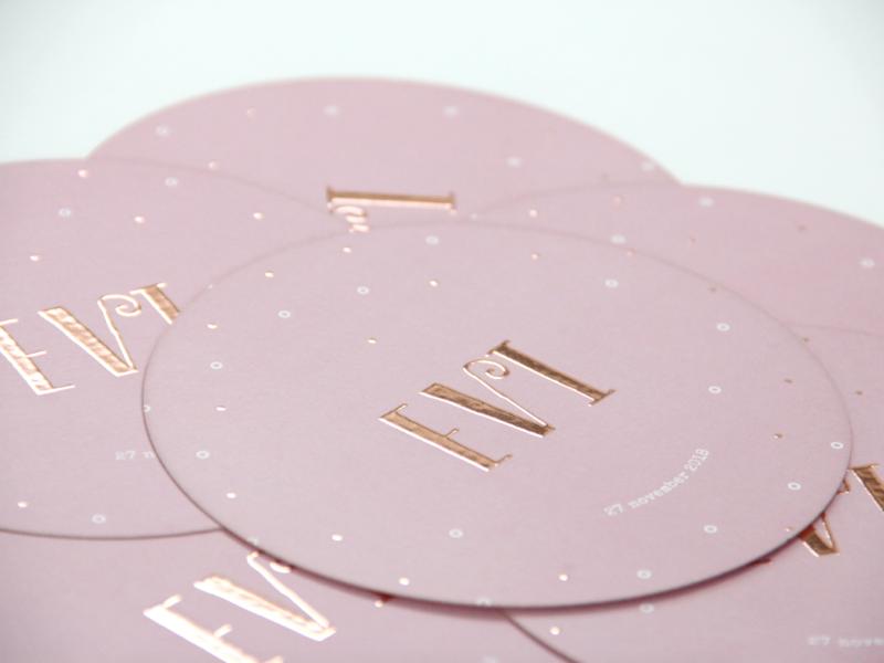 Geboortekaartje 'Evi'