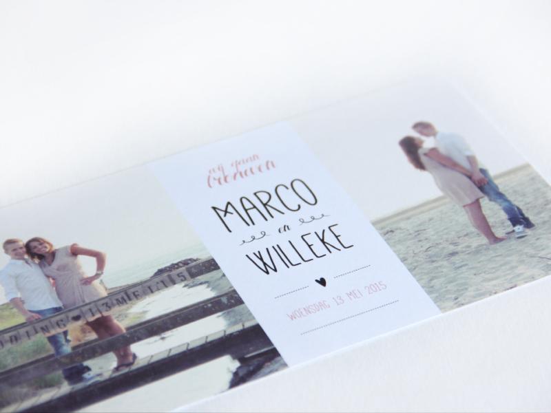 Trouwkaart 'Marco & Willeke'