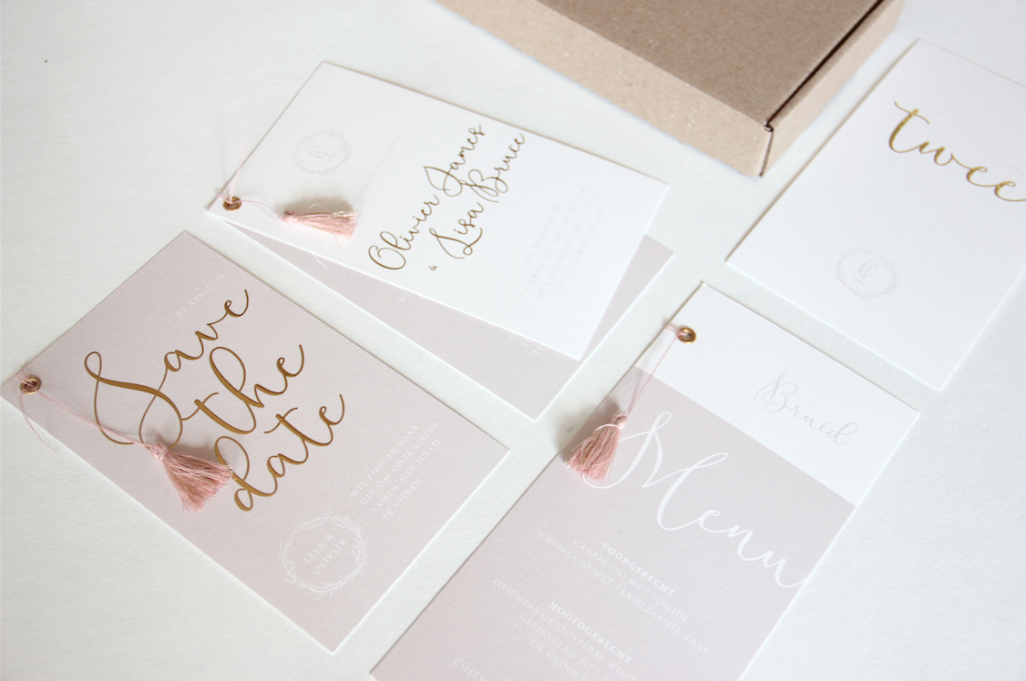 Wedding stationery voor Olivier en Lisa