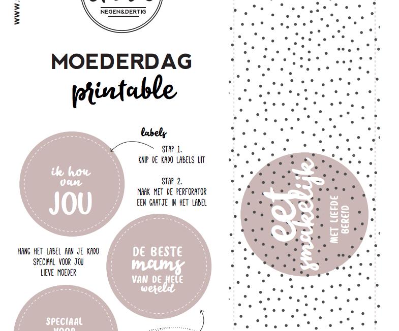 Gratis MOEDERDAG labels en wikkel