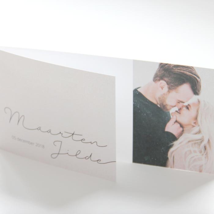 Trouwkaart 'Maarten & Jilde'