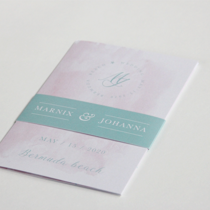 Trouwkaart 'Marnix & Johanna'