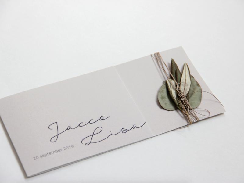 Trouwkaart 'Jacco & Lisa'